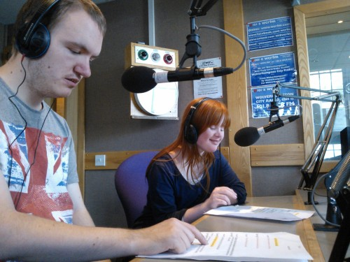 Sean and Georgie on air